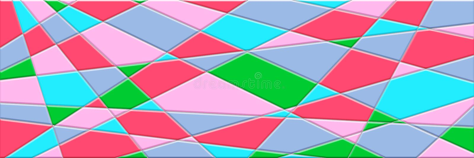 Abstract background has lines and geometric shapes stock illustration