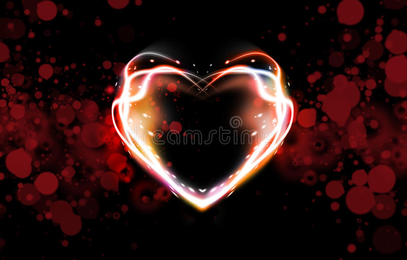 Abstract background of heart stock illustration