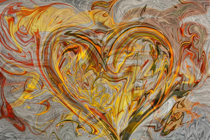 Abstract background, heart in love. Design element for brochure, advertisements, flyer, web and other graphic designer works. Digi. Tal collage stock photo