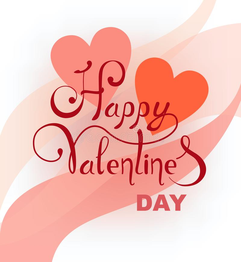 Abstract background with hearts on the day of the holy valentine. Vector , lettering royalty free illustration