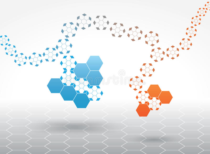 Abstract background. With hexagon shape vector illustration
