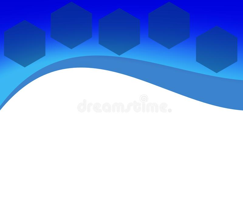 Abstract Background with Hexagons for Business IT Websites royalty free illustration