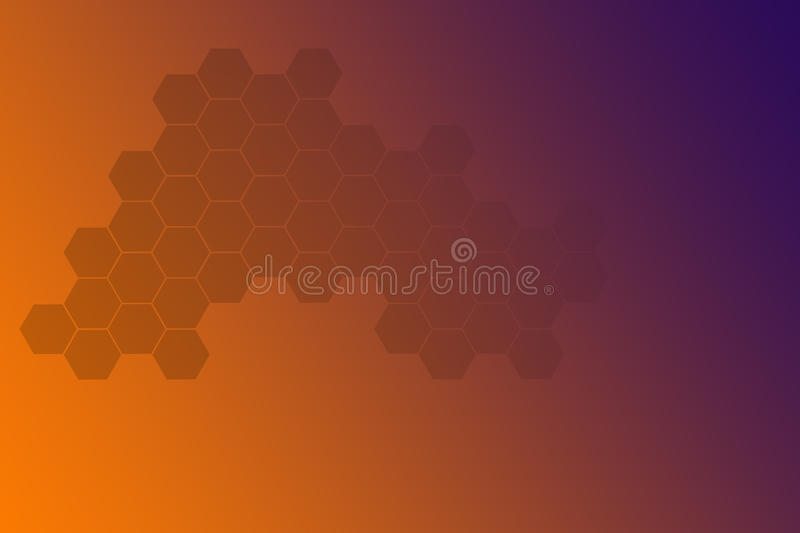 Abstract background with hexagons. Hi-tech digital technology stock illustration