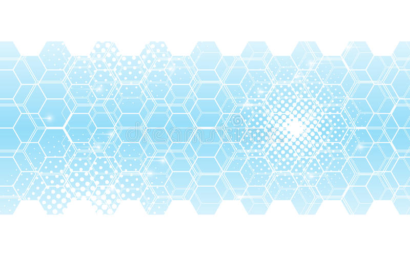 Abstract background hexagons pattern innovation tech concept royalty free illustration