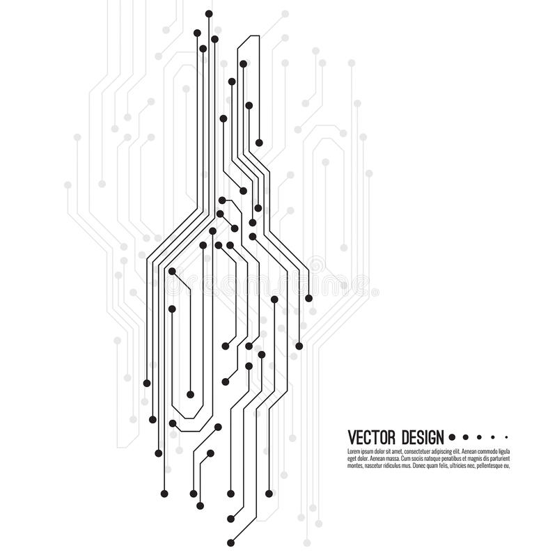 Vector electronic motherboard. royalty free illustration