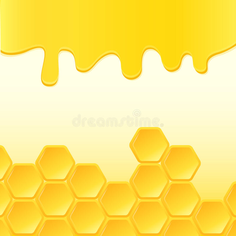 Abstract background with honeycomb vector illustration