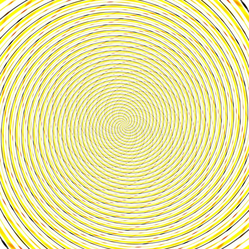 Abstract background illusion hypnotic illustration, design deception. Abstract background illusion hypnotic illustration motion spirals, design deception stock illustration