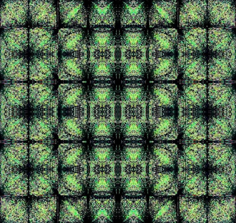 Green abstract mosaic. Abstract background. Illustration. Art picture. Saturated color stock illustration