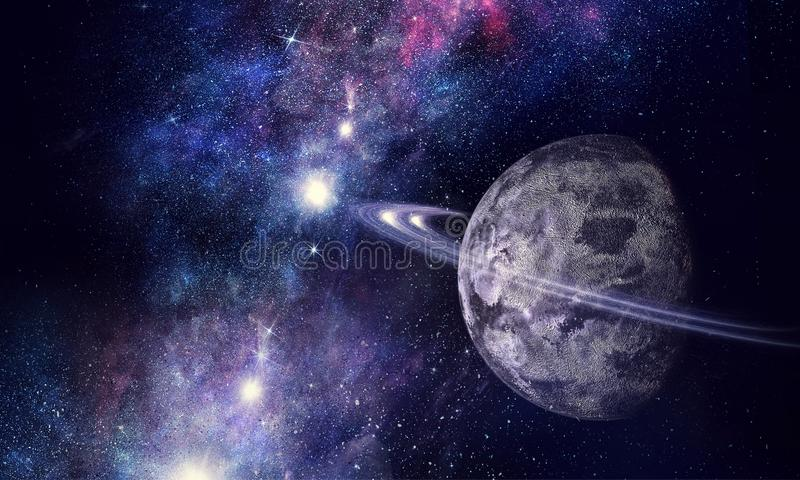 Space planets and nebula stock images
