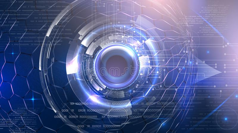Futuristic cyber eye royalty free stock photo