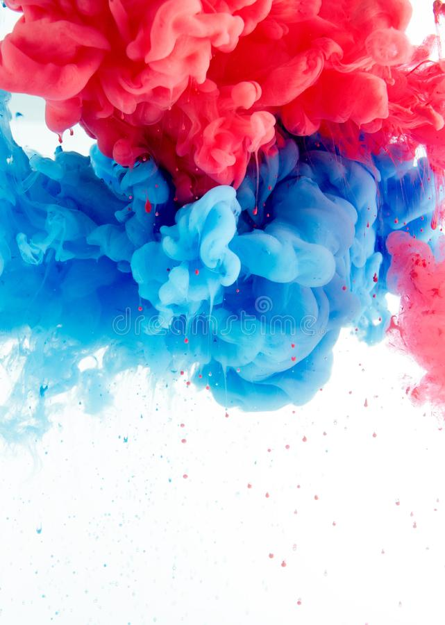 Abstract background from ink color mix in water royalty free stock images