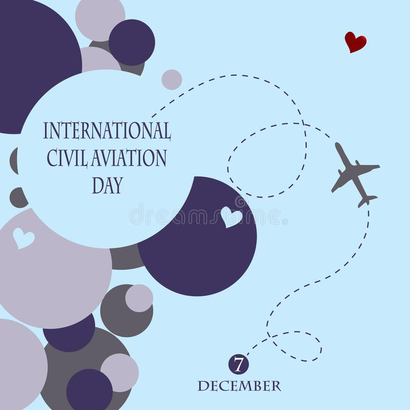 International Civil Aviation Day. Abstract background for International Civil Aviation Day. Vector illustration stock illustration
