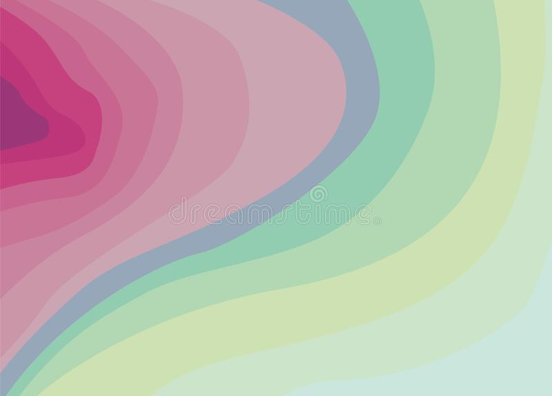 Abstract background of iridescent waves ticking in the side. Vector, esp10. Abstract background of iridescent waves ticking in the side. Zine background for the royalty free illustration