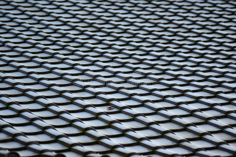 Abstract Background of Japan Temple Rooftop stock photography