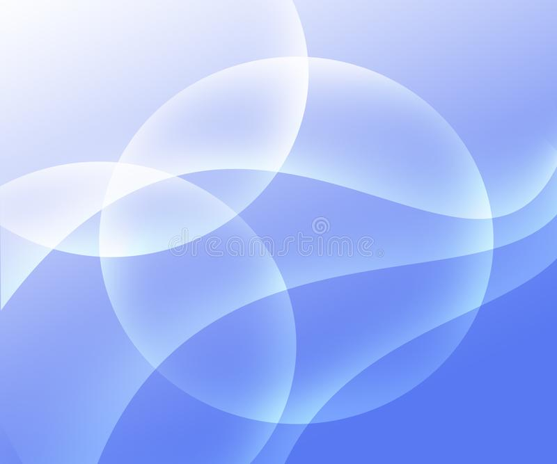 Abstract background light blue and white gradient with circles vector illustration