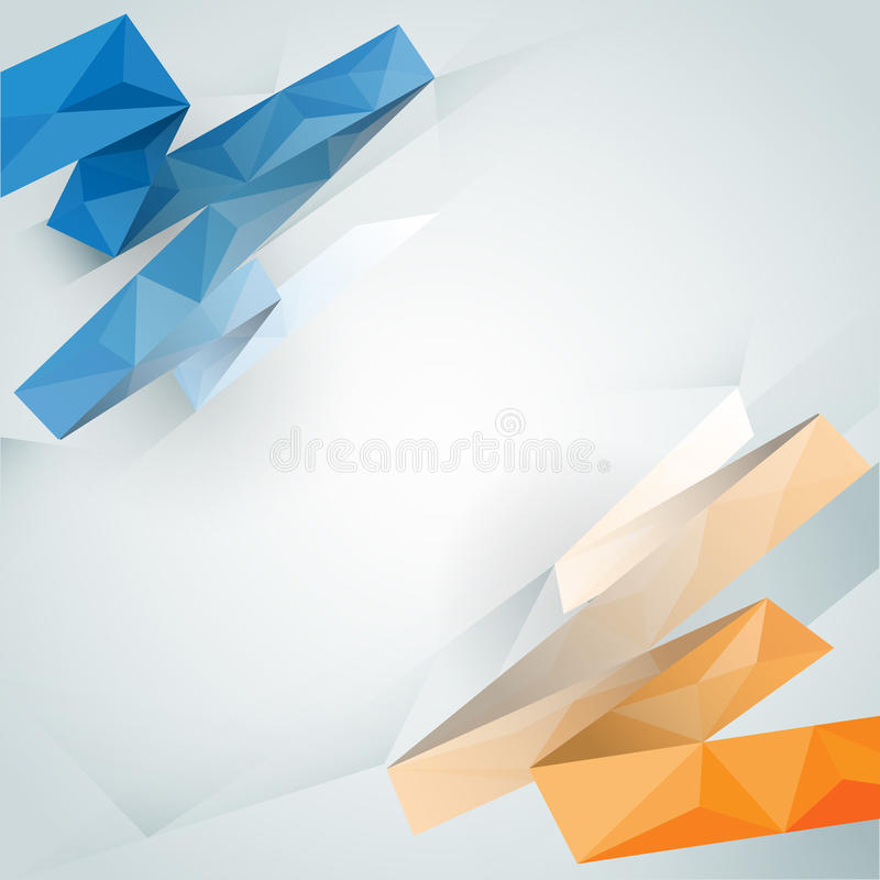 Abstract background with light colour polygonal design royalty free illustration