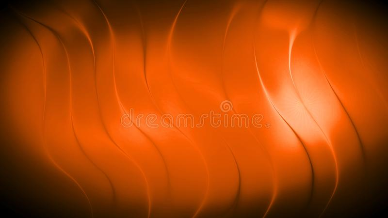 Abstract orange color wave background royalty free illustration