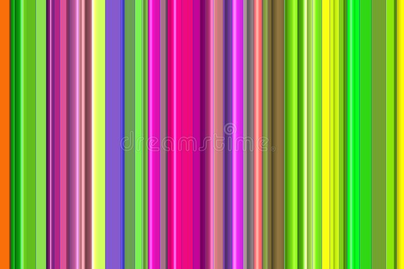 Abstract background, lines in green, gold, brown, pink, violet hues stock illustration
