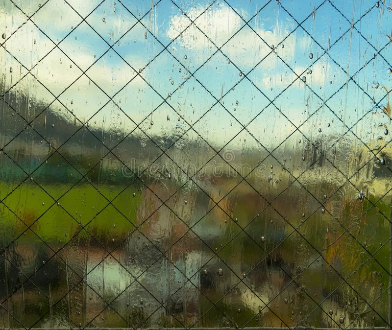 Abstract Background : Looking through a frosted window, blur vie royalty free stock images