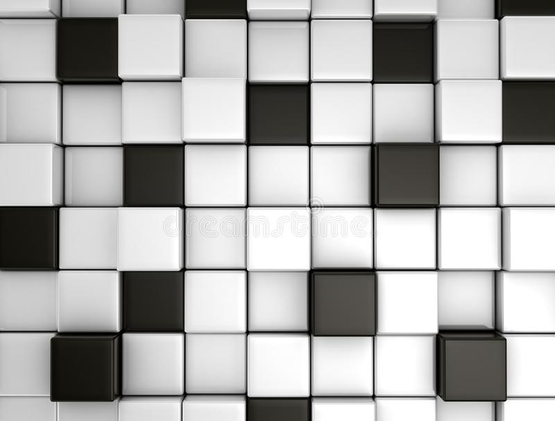 Abstract background made of 3d cubes royalty free stock photos