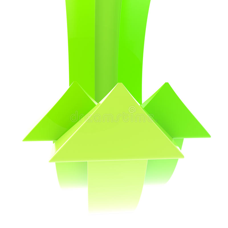 Download Abstract Background Made Of Green Arrows Stock Illustration - Image: 25330270