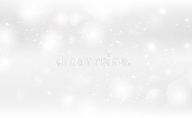 Abstract background, magic fantasy silver stars sparkle decoration seasonal holiday celebration vector illustration royalty free illustration