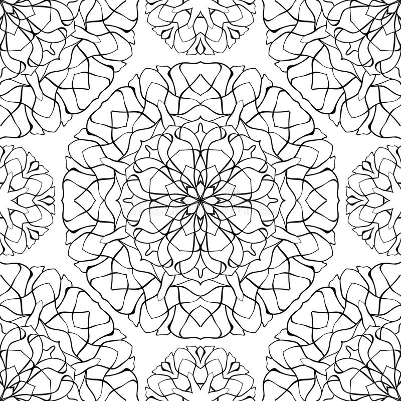 Abstract background with mandalas. vector illustration
