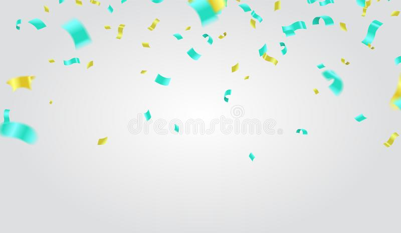 Abstract background with many falling tiny confetti pieces. vector background vector illustration