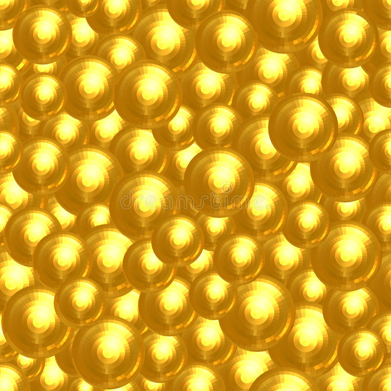 Download Abstract Background Of Many Golden Faceted Balls Stock Illustration - Image: 28423798