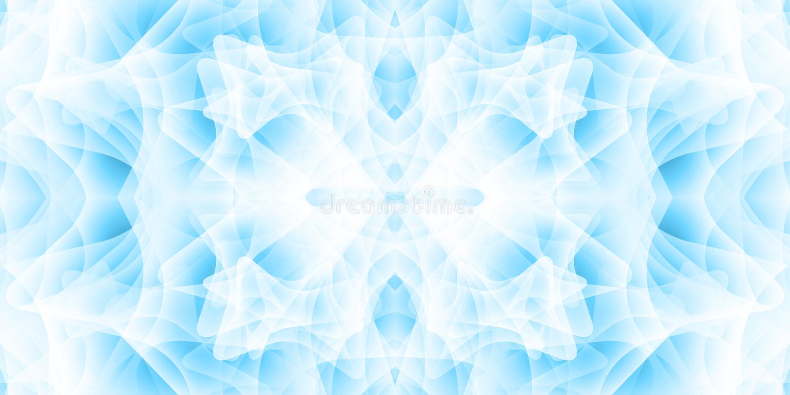 Abstract background with many overlapping shapes. Shades of blue. Mystical aura royalty free illustration