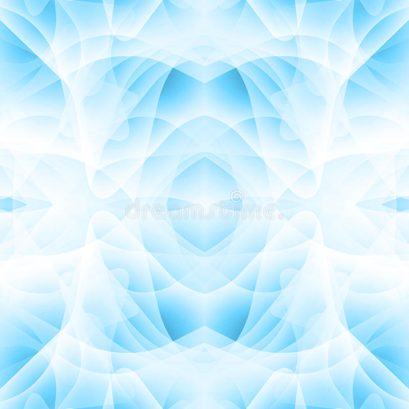 Abstract background with many overlapping shapes. Shades of blue. Mystical aura stock illustration