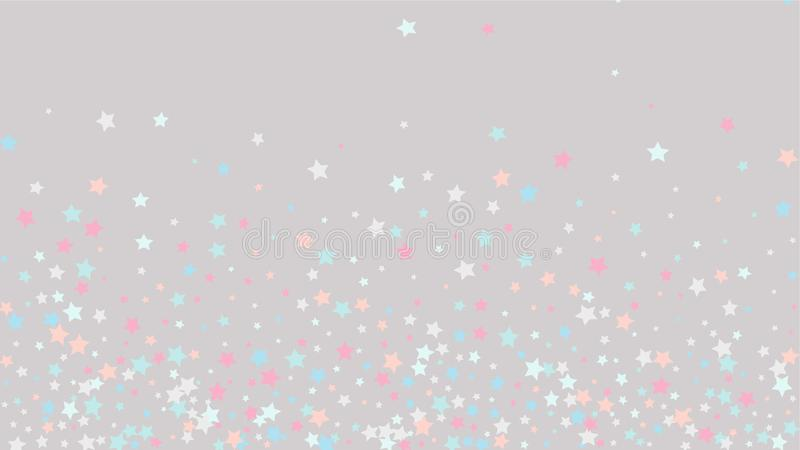 Abstract Background with Many Random Falling Golden Stars Confetti on Background. Abstract Background with Many Random Falling Stars Confetti on Background royalty free illustration