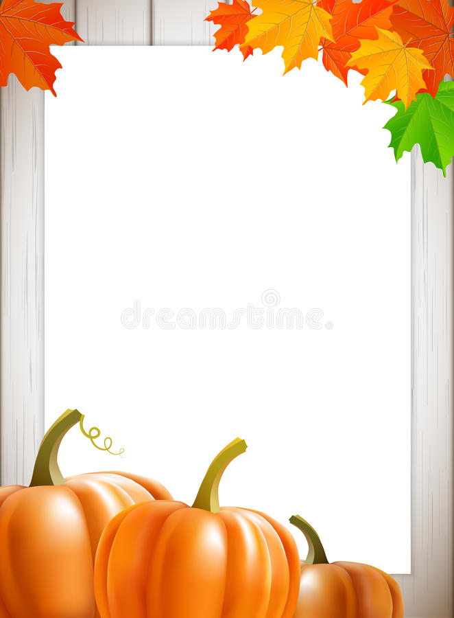 Download Abstract Background With Maple Leaves And Pumpkins Stock Vector - Image: 42752702