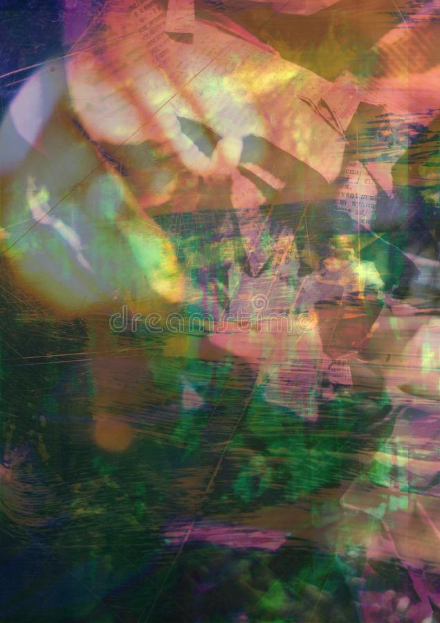 Abstract background May. Abstract blurred paper collage of the time of the year March stock images