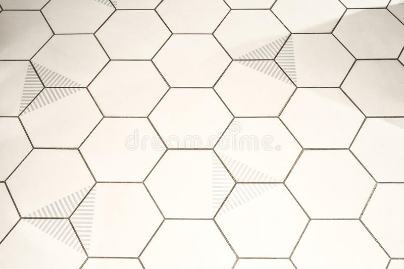Background of hexagon shaped cells stock photography