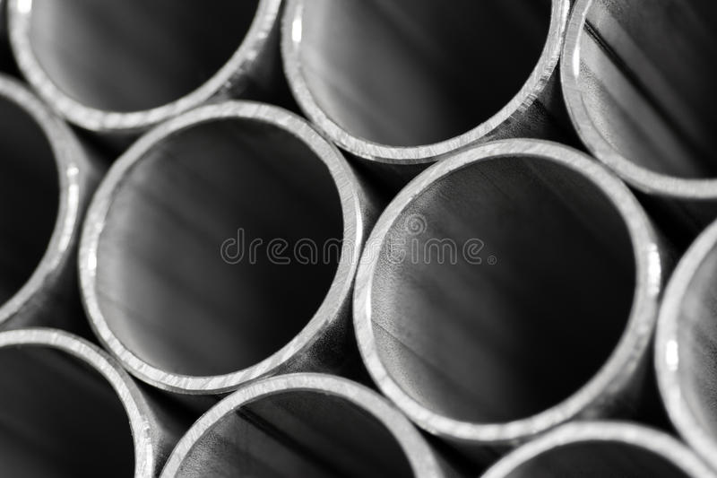 Abstract background of metal pipe stock images