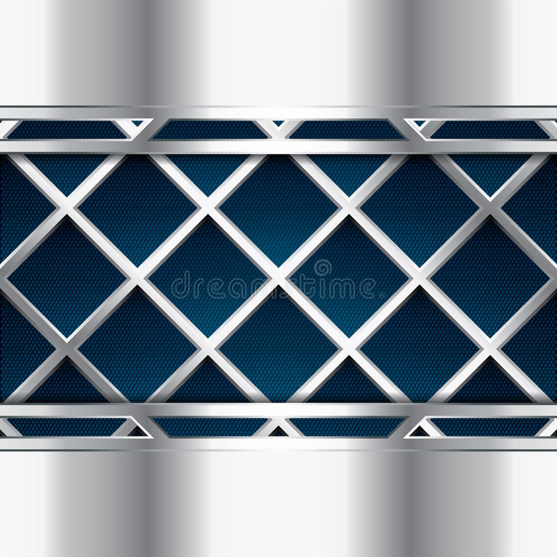Abstract background. Metallic blue brochure, vector royalty free illustration