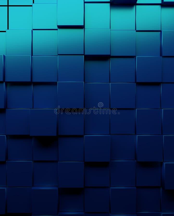 Metallic blue cubes background vector illustration