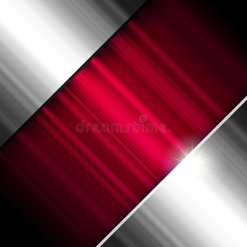 Abstract background, metallic and red. royalty free stock image