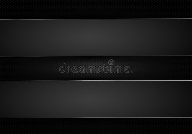 Abstract background, metallic silver banners, vector vector illustration