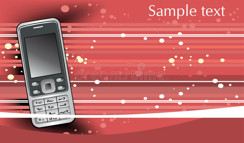 Abstract background with mobile cell phone vector illustration