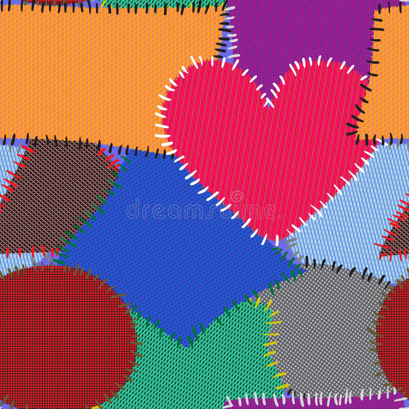 Download Abstract Background With Motley Textile Patches Stock Vector - Image: 18125101