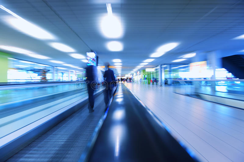 Abstract background of moving escalator stock photos
