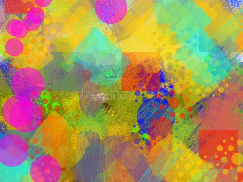 Abstract background multi-colored stock illustration