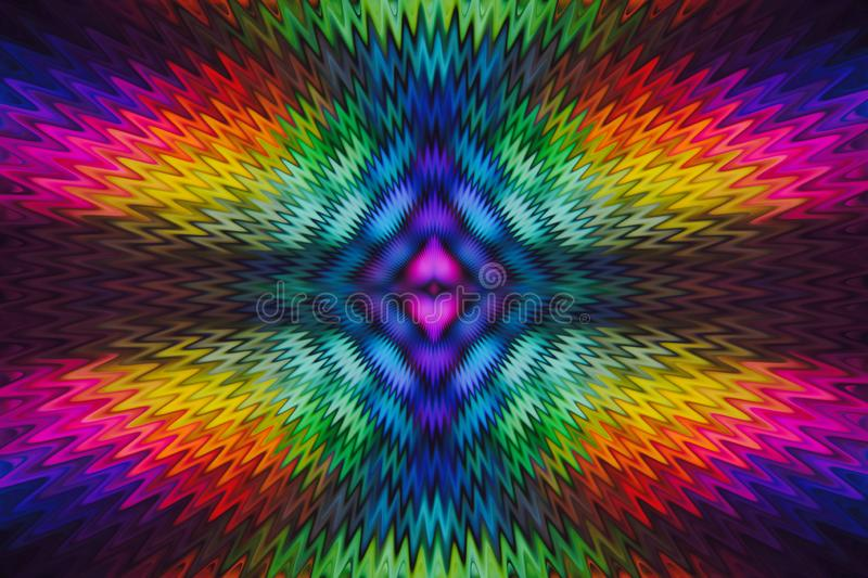 abstract background multicolor rainbow radial wave from the center of symmetry stock illustration