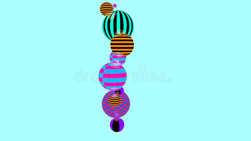 Abstract background with multicolored decorative balls stock illustration