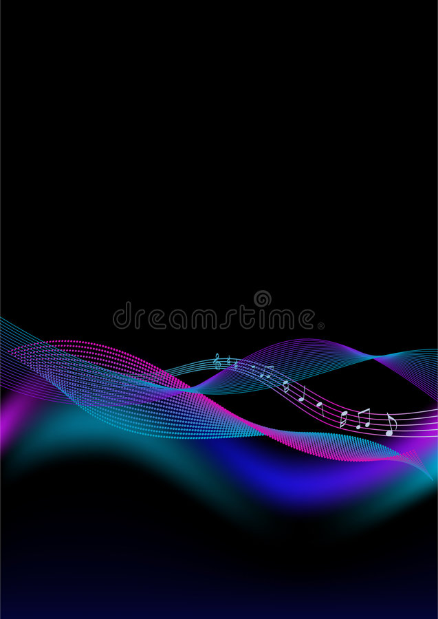 Abstract background - music stock illustration