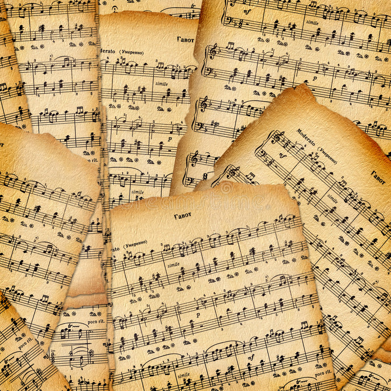 Abstract background with the music book stock illustration
