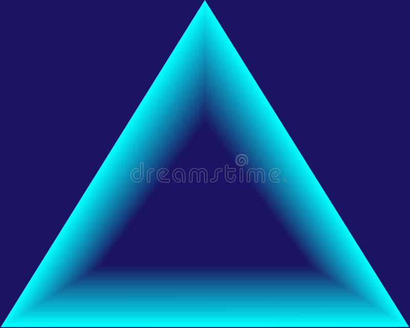 Abstract background neon bright blue triangle vector illustration