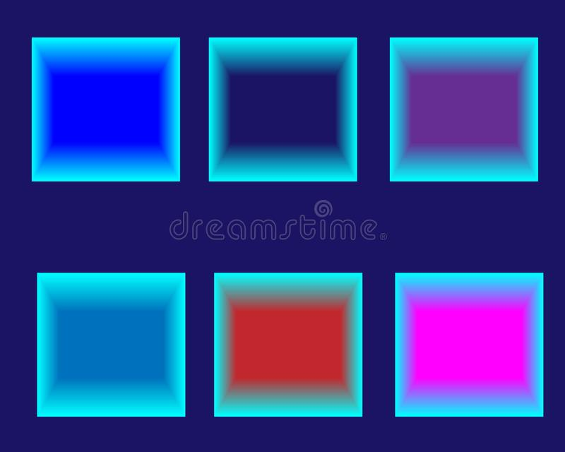 Abstract background neon bright color squares. Glowing futuristic lines in a dark space with a modern concept. Generics presentations. Vector layout EPS10 vector illustration